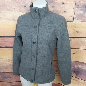 The North Face gray wool coat jacket size small